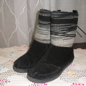 Toms One for One Suede Textile Mid Calf Boot 7